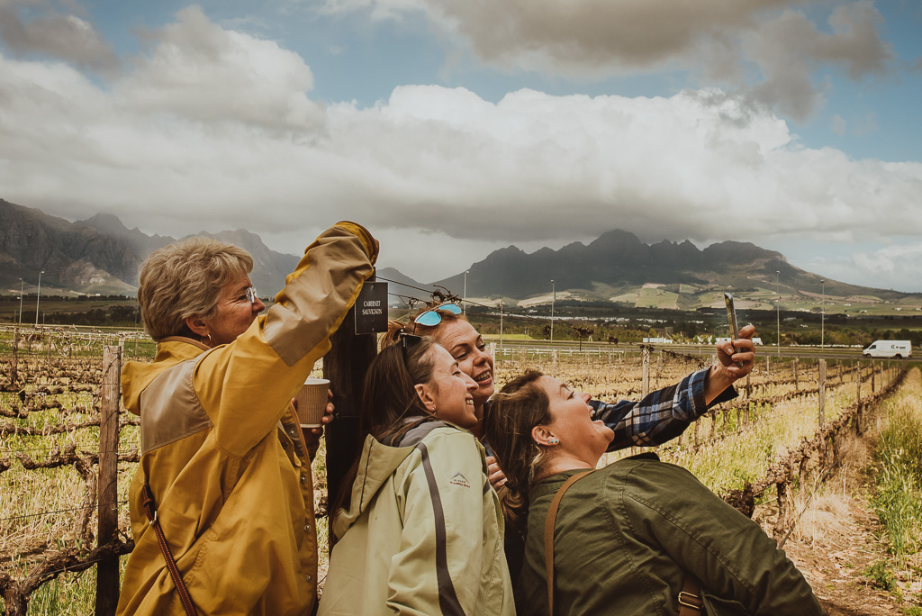 women taking selfie in South Africa female only tour