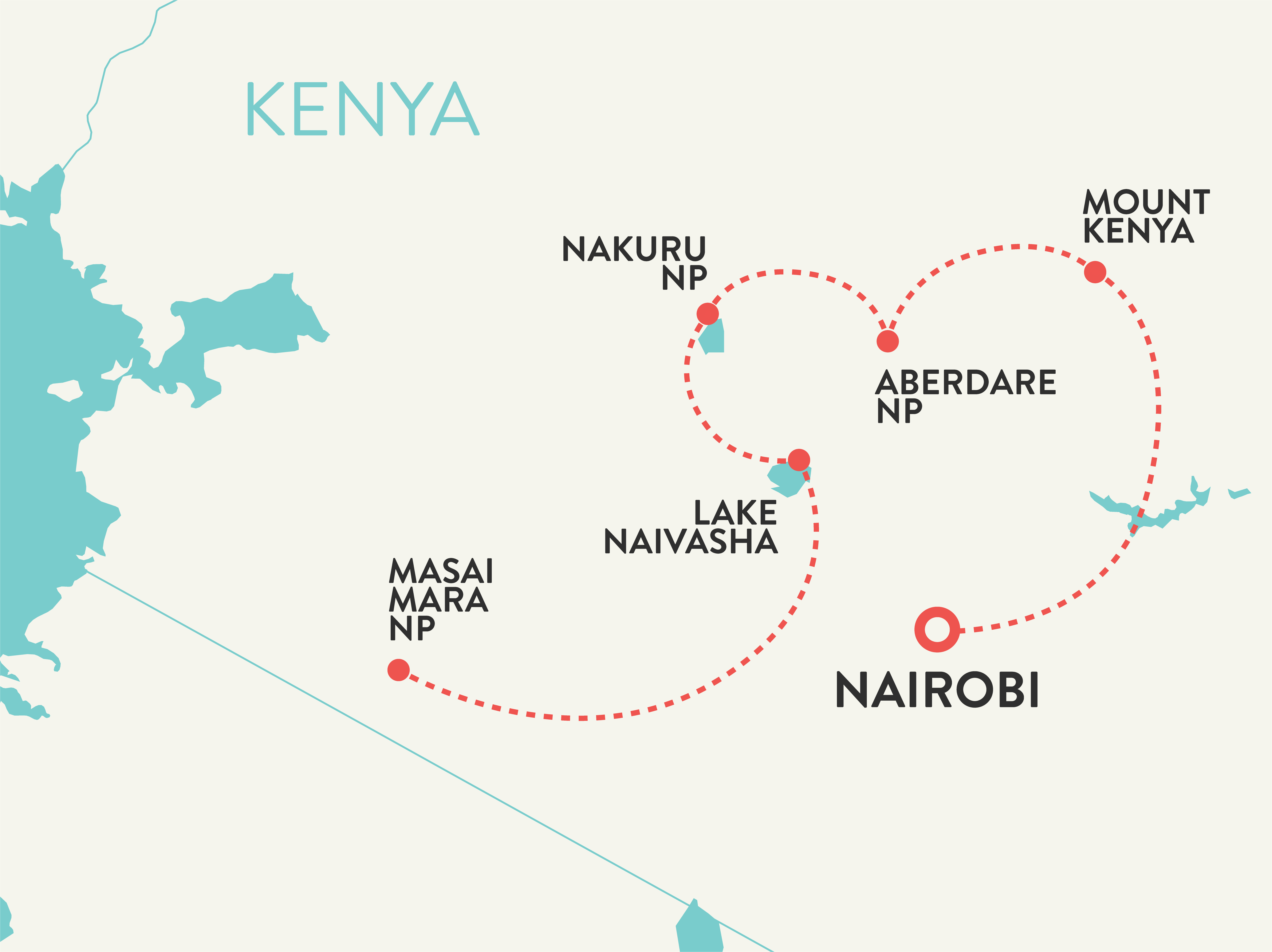 Kenya tour women solo travelers map