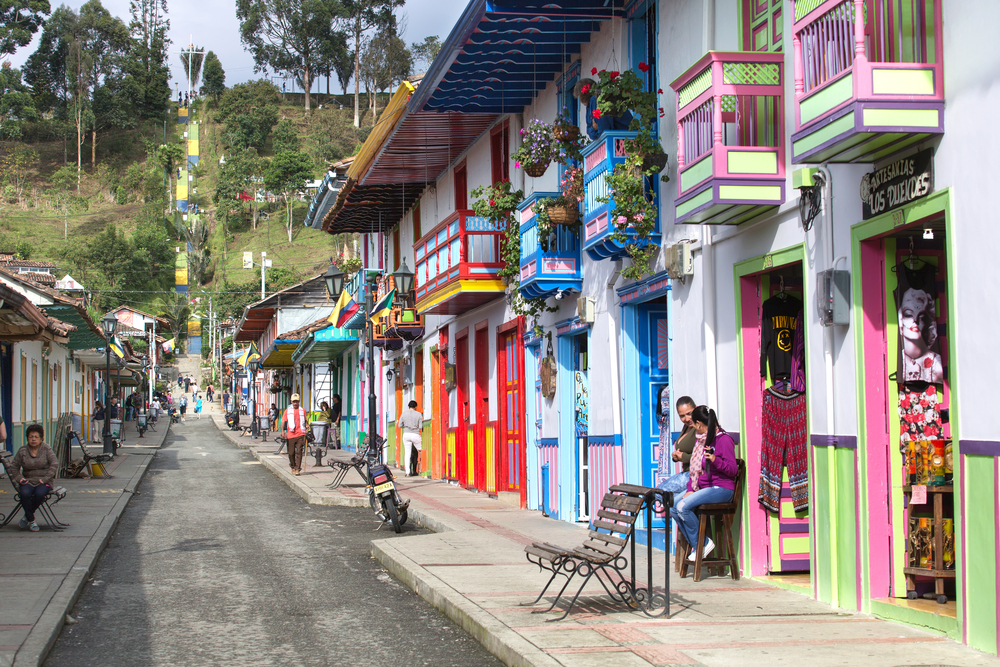 Salento town in Colombia on women only tour