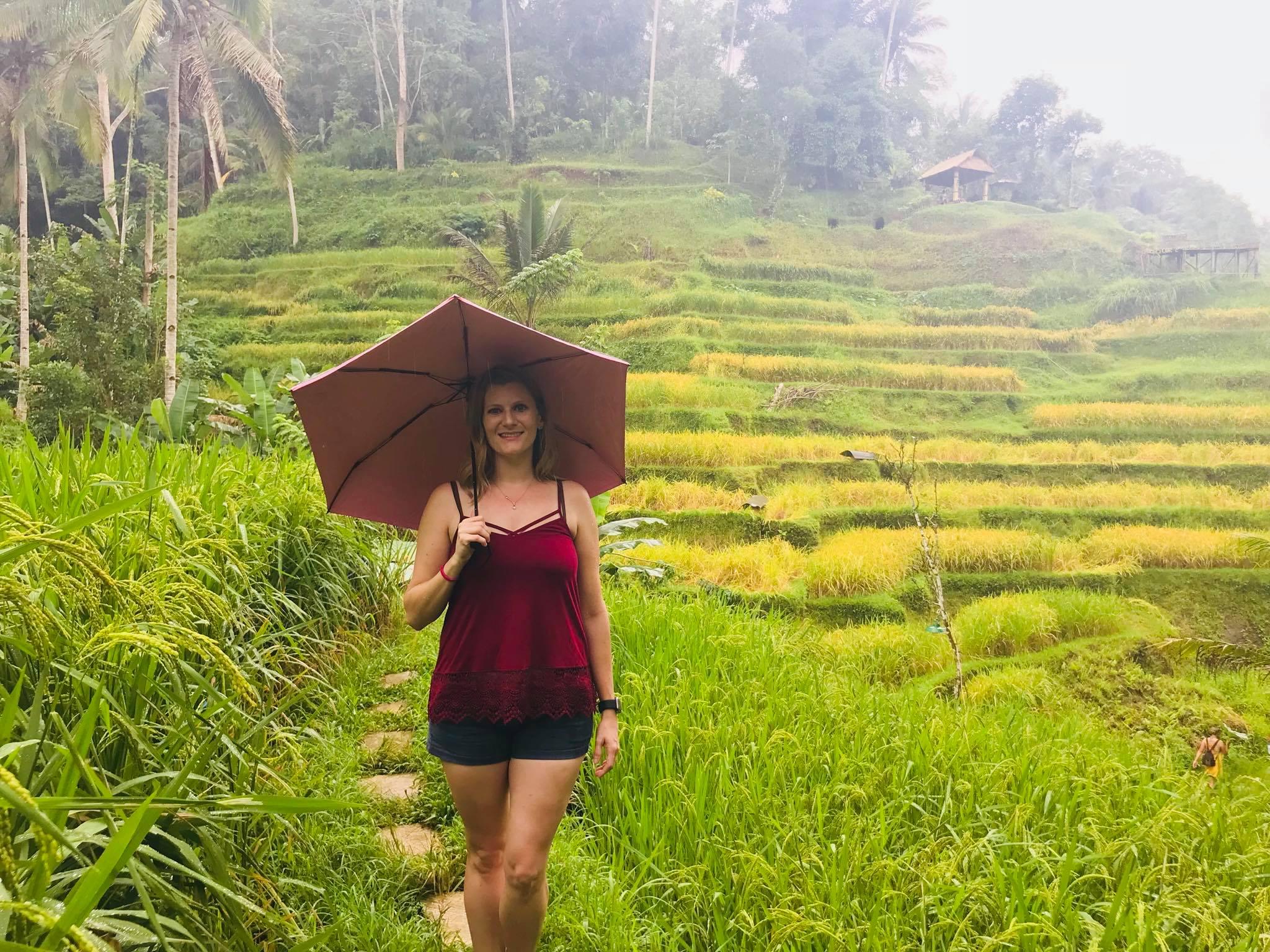 Chelsea Lew in Bali