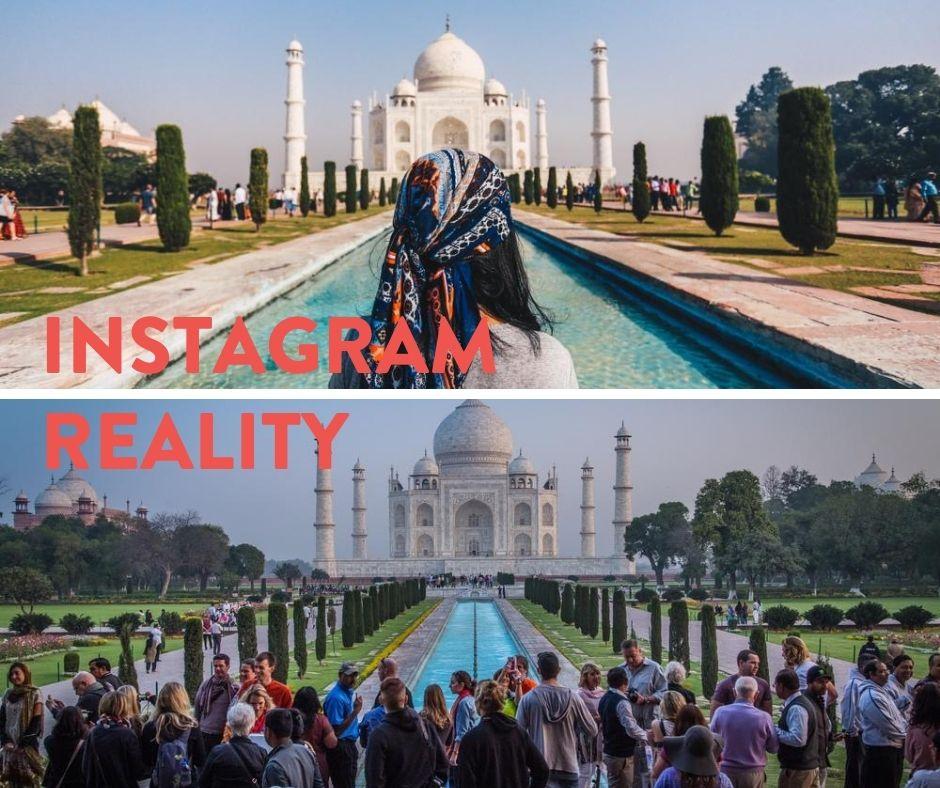 Taj Mahal India IG vs reality