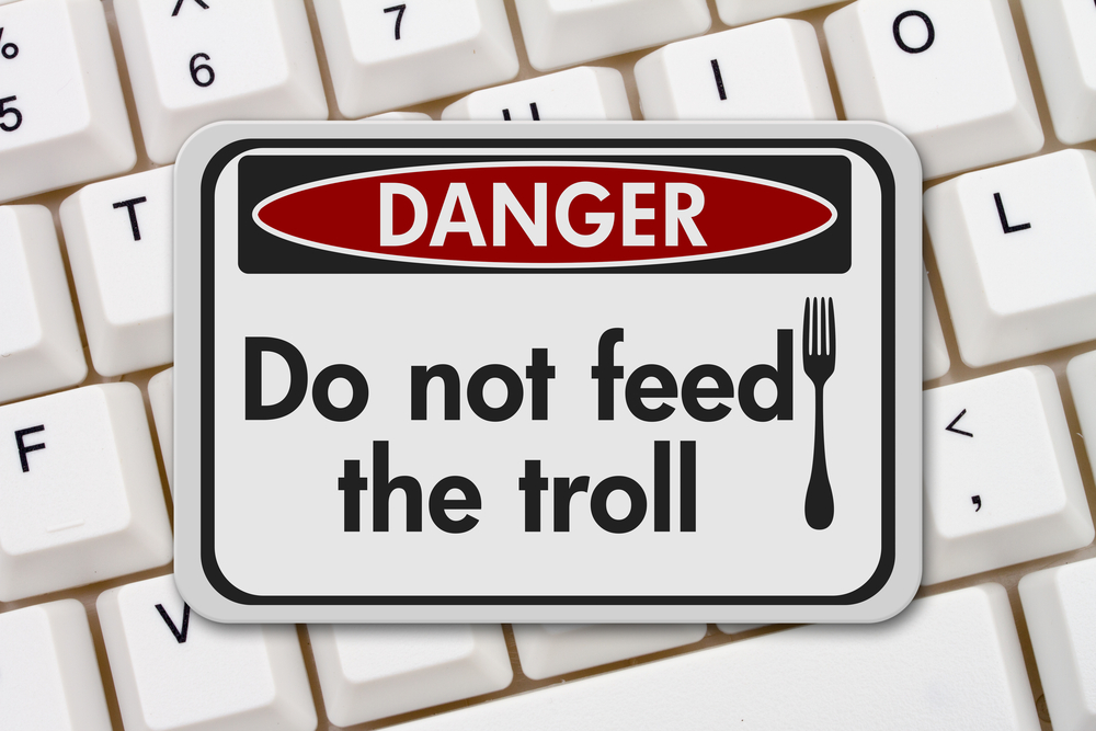 do not feed age trolls sign