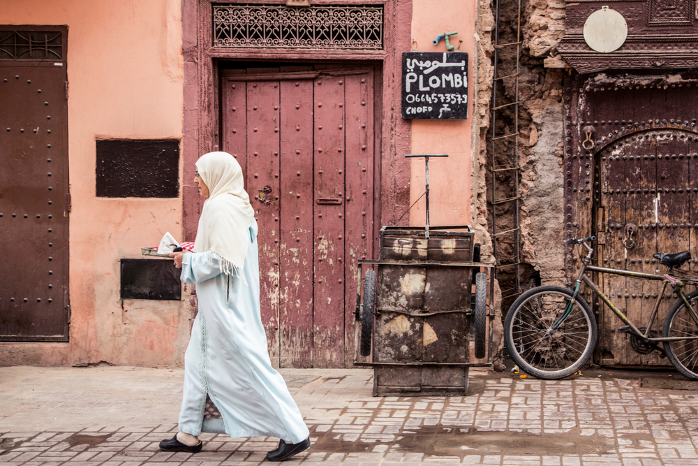 woman alone in Marrakech