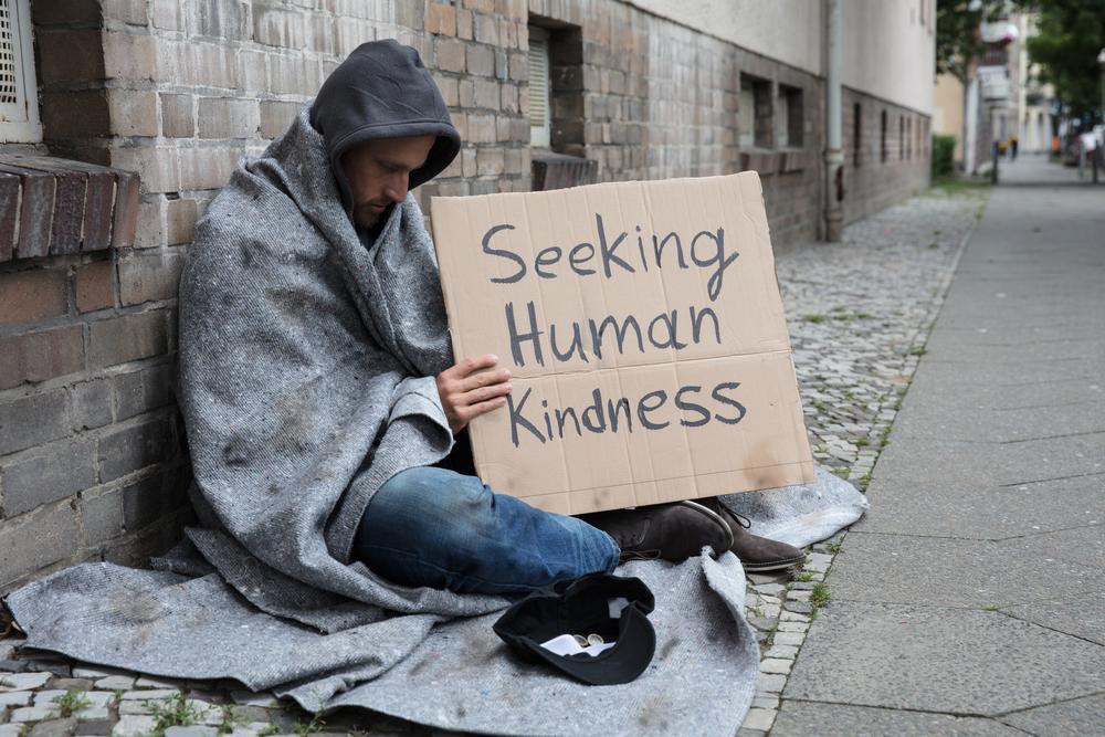 genuine beggar on the street