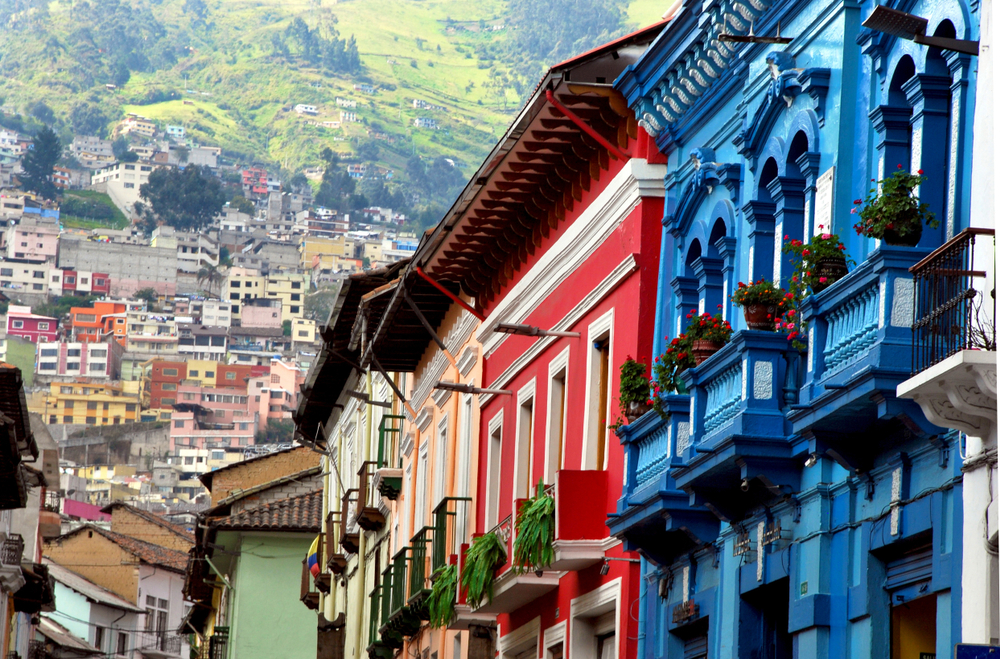 colorful buildings in Quito, Ecuador