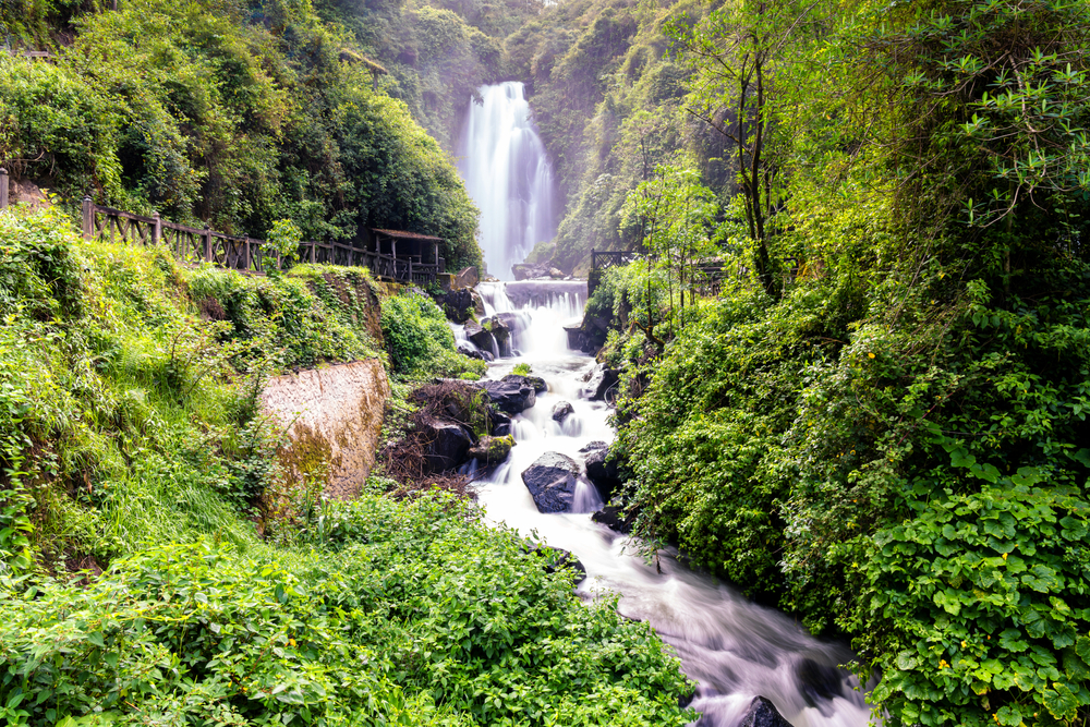 waterfall from Ecuador Meetup