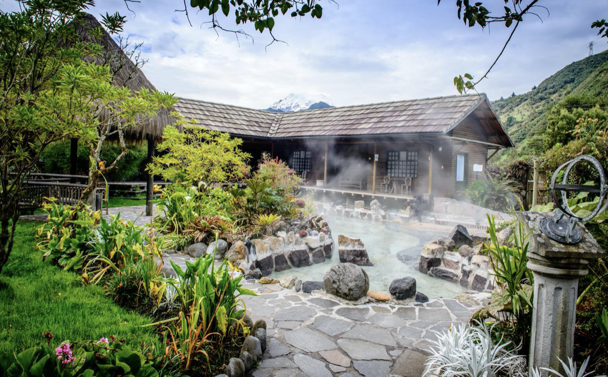hotel with hot springs ecuador