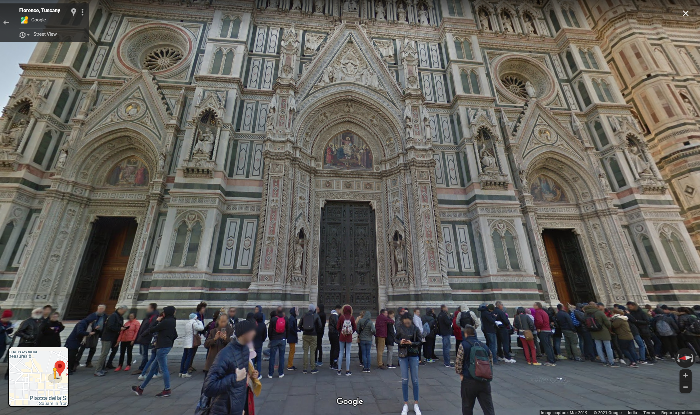Google Maps Street View of Florence, The Duomo
