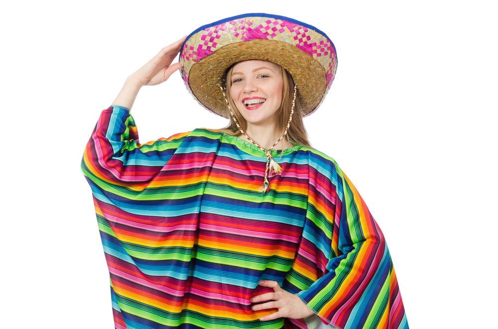 woman dressed in Mexican clothing