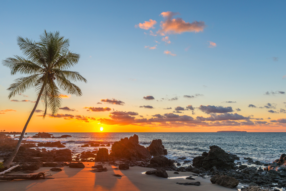 sun setting in Costa Rica