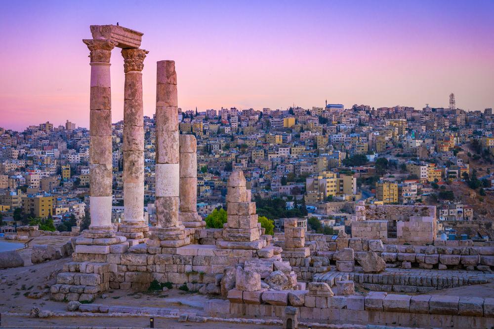 sunsets in Amman, Jordan