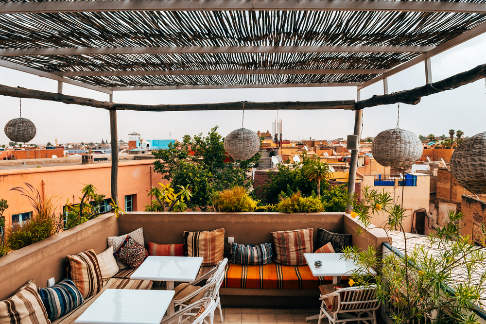 Moroccan rooftop lounge