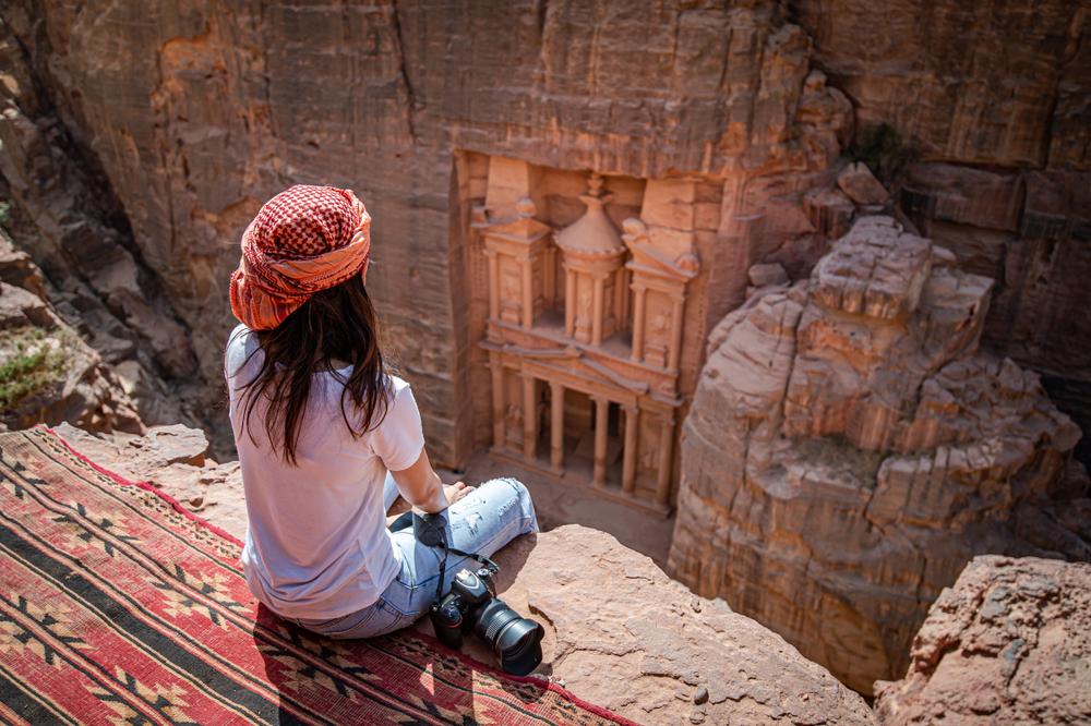 Jordan view in Petra
