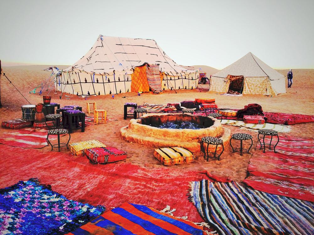 Morocco desert glamping