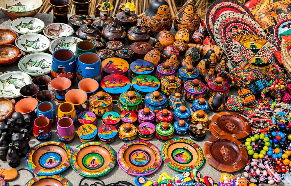 Lima market shopping