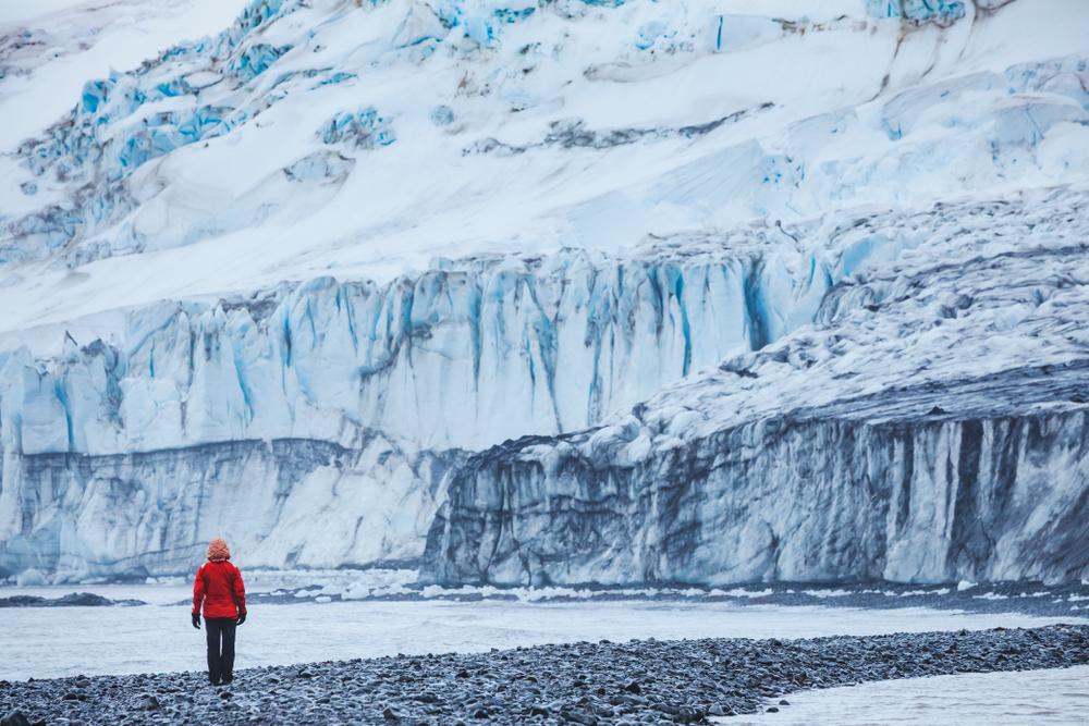 woman in Antarctica