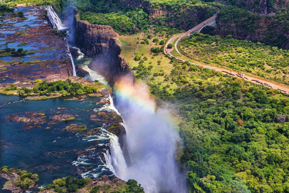 rainbow Victoria Falls tour for women