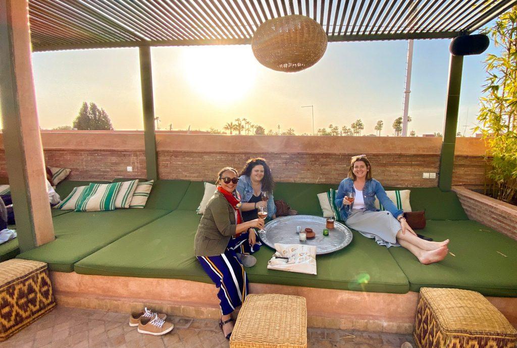 leaders on rooftop bar in Marrakech