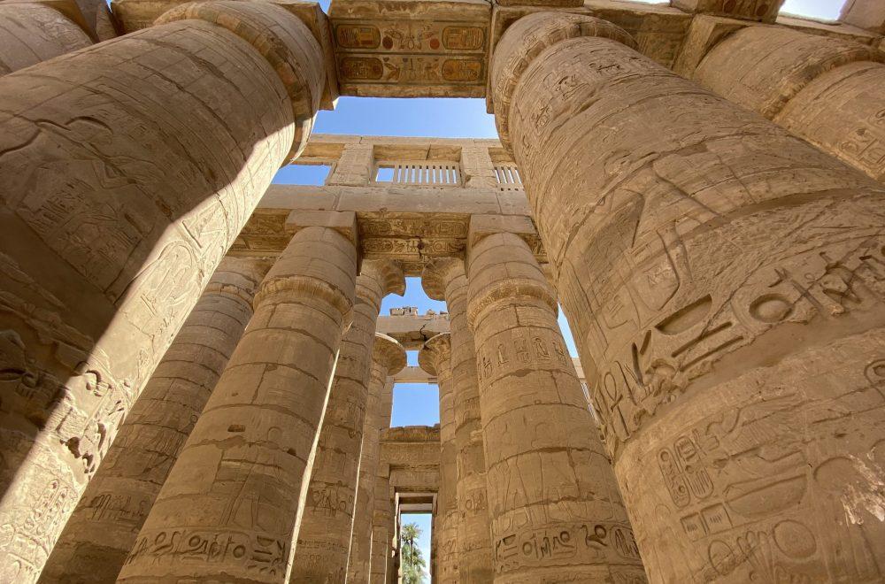 Pillars in Karnak Temple